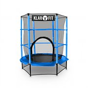Klarfit Rocketkid Trampoline 140cm/4.5ft Safety Net Bungee Suspension - Blue