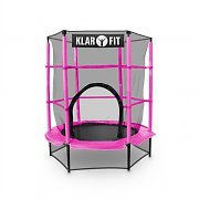 Klarfit Rocketkid Trampoline 140cm/4.5ft Safety Net Bungee Suspension - Pink