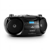 Auna Groove Star Radio Recording Bluetooth FM CD USB MP3 Cassette Battery
