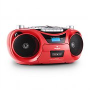 Auna Groove Star Radio Recorder Bluetooth FM CD MP3 USB Cassette Battery