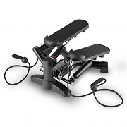 Klarfit Powersteps Twist Stepper with Expander Arm Bands Black