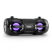 Auna Soundblaster M Boombox Bluetooth CD MP3 USB FM LED Effect 25W RMS
