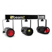 Beamz 3-Some Light Set RGBW-LED Multipoint Laser Sound Activated