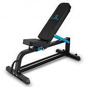 Capital Sports Ad Just Weight Bench Adjustable Flat Bench Steel 300kg Black
