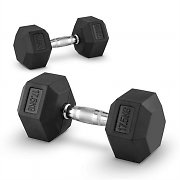 Capital Sports Hexbel Pair of Dumbbells 17.5 kg