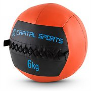 Capital Sports Wallba Medicine Ball Set of 5 6kg Leatherette Orange