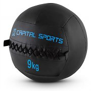 Capital Sports Epitomer Set Wall Ball 9kg Leatherette 5 Pieces Black