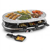 Klarstein Steaklette Raclette Grill 1500W Granite Natural Stone Plate 8 People