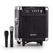 Skytec ST-065 Portable PA System 200W Bluetooth USB SD MP3 VHF 2 x Microphones