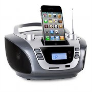 Inovalley R60 Boombox Stereo iPod Dock Station USB CD MP3 AM/FM SD AUX