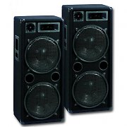 "2 x Omnitronic DX2222 12"" Passive PA DJ Speakers - 2000 Watt Pair"