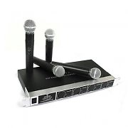 Auna 4 Channel Radio Wireless Microphone Set