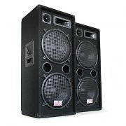 Auna 2000W Speaker Pair PW-2222 3 Way Speaker 2 x 12&quot;