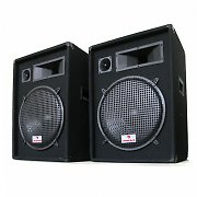 "Auna PW-1522 1600W 15"" 3-Way DJ PA Speakers - Pair"