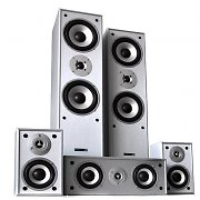 Hyundai Multicav Surround Sound Speaker Set 1150 Watts MAX - Silver