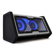"Auna 2X10"" Double Subwoofer with LED Light Effect 2000 watts."