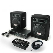 PA set 'Bass Boomer USB' Speakers, Amp, USB Mixer, Microphones 480W