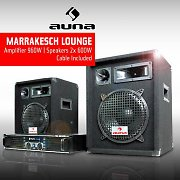 DJ PA Package &quot;Marakesh Lounge&quot; Speakers &amp; Amplifier Set