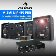 "DJ PA Package ""Miami Nights Pro"" 2 x Amplifier 4x Speakers"