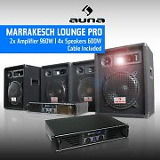 DJ PA Package &quot;Marrakesh Lounge Pro&quot; Speakers &amp; Amplifier Set