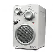 Denver Design TR-43C Compact FM radio AUX - white