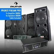 Complete DJ PA &quot;Phuket Pulsar Pro System, 1000W speakers + Amp