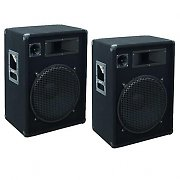 2 x Omnitronic DX1522 15&quot; Passive PA Speakers - 1600 Watt Pair