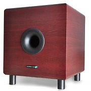 "Hyundai Multicav Mahogany 10"" Active Home Theater Subwoofer 120W"
