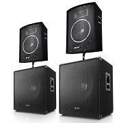 """Berlin Bassline"" 1000W 2-way DJ PA Stage Speaker System"