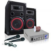 EASY V.2 Compact DJ PA System - Speakers, Amp & Mic system