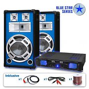 "Blue Star Series ""Bass Kick"" PA DJ Set- Amplifier & Speaker Set"