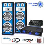 "Blue Star Series ""Bass Core USB"" PA DJ Set 1600 Watt System"