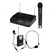 KAM KWM1932 UHF Wireless Headset Lapel Microphone Set