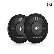 Capital Sports Elongate Set of 5 Pairs of Weight Plates 2x 10 kg each