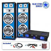Blue Star Series &quot;Bass Veteran&quot; PA DJ Set 1600 Watts