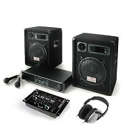 PA System 'Bass Boomer' Speakers, Amp, Mixer, Microphones 480W