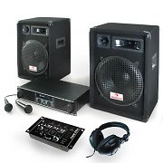 PA Set Bass Hunter Set, Speakers, Amplifier, Mixer & Microphones
