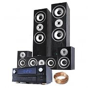 1200W 5 Speaker Surround Sound Home Cinema System DSP Amplifier + Cable