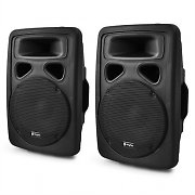 "Pair of Skytec 10"" DJ PA Active Speakers 2 x 400W - ABS Housing"