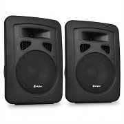 Pair Skytec Passive DJ PA Speakers ABS + Stand Mounts 600 Watts Max