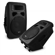 2 x Skytec Passive DJ PA Speakers ABS + Stand Mounts 500 Watts