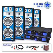 "Blue Star Series ""Bass Veteran Quadro"" PA DJ 3200w Set"