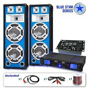 "Blue Star Series ""Bass Veteran USB"" PA DJ Set 1200 Watts"