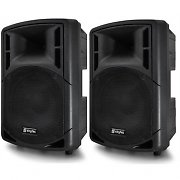 "Pair of 12"" Skytec RC12 PA Active Speakers 600W Set"