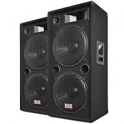 Auna PW-2522 3-Way PA Speaker Pair 15&quot; 1500W
