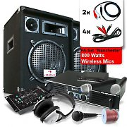 """PA Set """"Manchester"""" with Amp, Speakers & Wireless Mic set"""