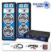 "Blue Star Series ""Bass Core"" DJ PA Speaker System 2600 Watt"