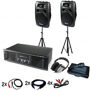 &quot;Chicago&quot; DJ PA Set with Amplifier, Speakers, Mic &amp; Headphones