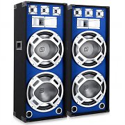 "Pair Skytec DJ PA Blue LED Passive Speakers - 15"" 2000W"
