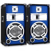 "Pair Skytec Blue LED 10"" Passive DJ PA Speakers - 800W"